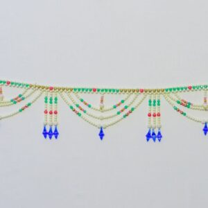 Handmade Colorful Bandhanwar Created with beads, blue hanging bandarwal