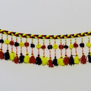Bandhanwar thread laces bead hangings multicolor thread laces handmade bandarwal