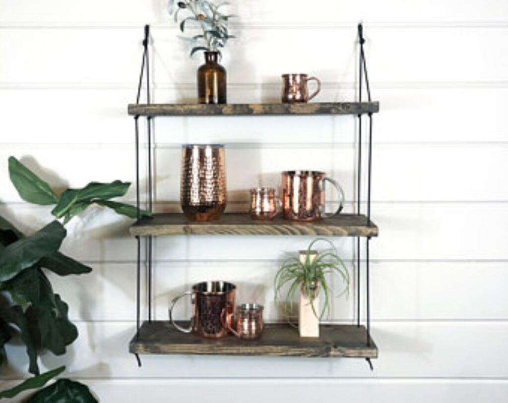 DIY Home Decor Idea DIY rope shelf