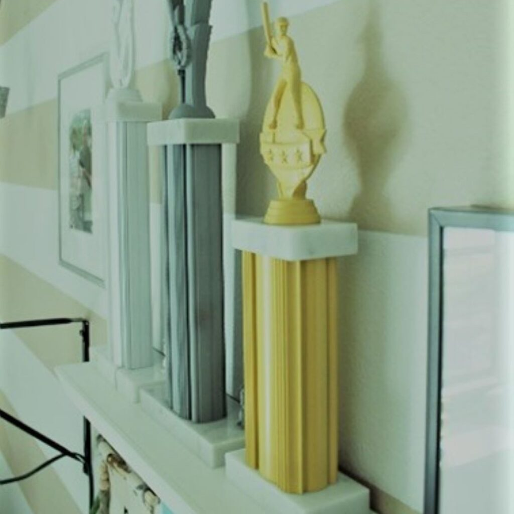 Spray Paint Old Trophies home decor idea 5
