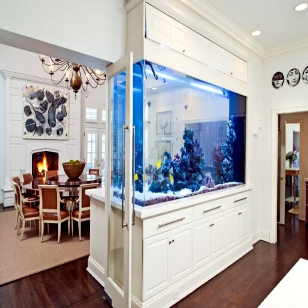 aquarium designs in the wall or in the living room 1