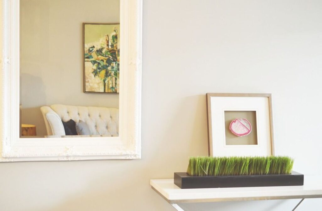 decorate a small house mirror