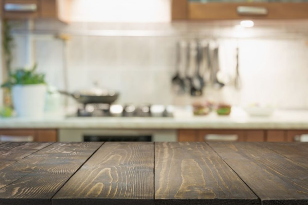 blurred abstract background modern kitchen with tabletop space display your products 91908 1263